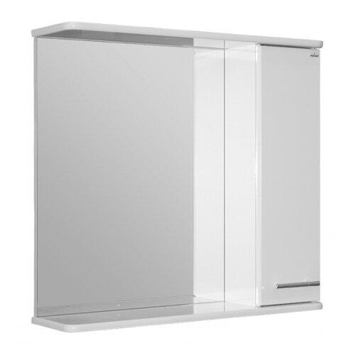 Шкаф-зеркало для ванной Mixline Анри-75 правый, (ШхГхВ): 75х15х75 см, белый