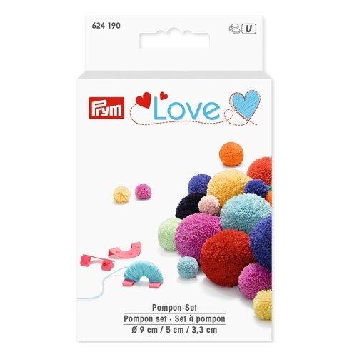 Prym Устройство для изготовления помпонов Love (624190) мятный/розовый/синий