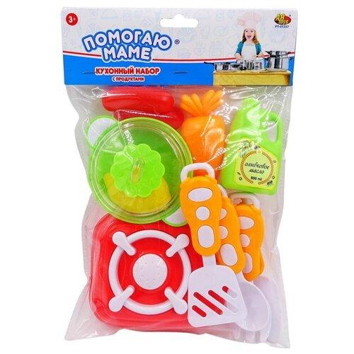 Купить Набор ABtoys Помогаю маме PT-01237 зеленый/оранжевый/красный/желтый/белый, Детские кухни и бытовая техника