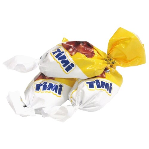 Конфеты Konti Timi, начинка суфле, сливочный и банановый вкус, пакет 1000 г конфеты konti tom