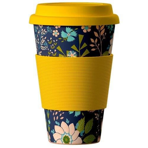 Тамблер BAMBOOCUP Eco Цветы (0,4 л) желтый шторы рулонные ролло идея рулонная штора ролло lux samba цветы зеленый оранжевый желтый 160 см