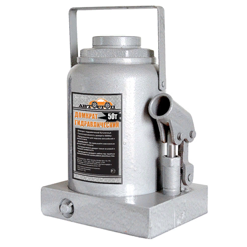 Домкрат бутылочный гидравлический Автостоп AJ-050 (50 т) серебристый домкрат бутылочный гидравлический автостоп aj 016 16 т серый