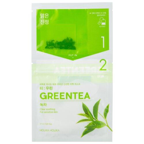 Фото - Holika Holika чай-маска Instantly Brewing Tea Bag с зеленым чаем, 27 мл holika holika egg soap green tea мыло маска с зеленым чаем 50 г 2 холика холика