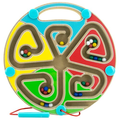 Купить Лабиринт Мир деревянных игрушек Цвета голубой/красный/зеленый/желтый, Развитие мелкой моторики