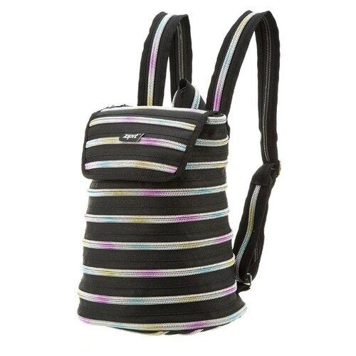 Рюкзак ZIPIT Zipper Backpack Black & Rainbow рюкзак sweet rainbow mochila cb016