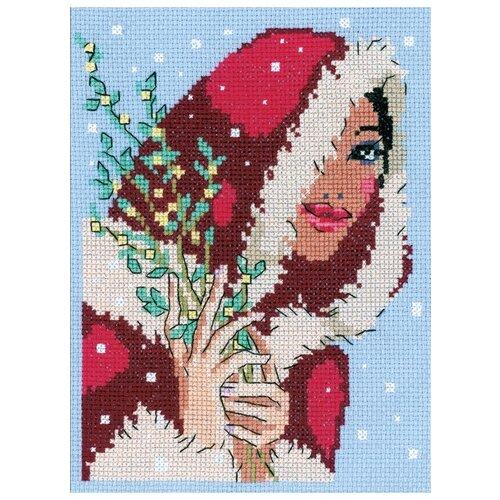 Klart Набор для вышивания Девушка с мимозой 13 x 18 см (6-083) набор для вышивания butterfly 153 корзинка с мимозой