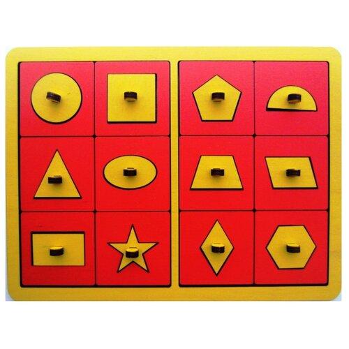 Купить Рамка-вкладыш SmileDecor Трафареты (Р07), 24 дет. желтый, Пазлы