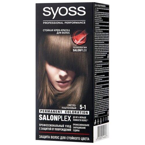 Syoss Color Стойкая крем-краска для волос, 5-1 Светло-каштановый крем краска для волос indola color red