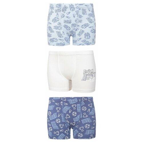 Купить Трусы BAYKAR 3 шт., размер 158/164, голубой/синий/молочный, Белье и пляжная мода
