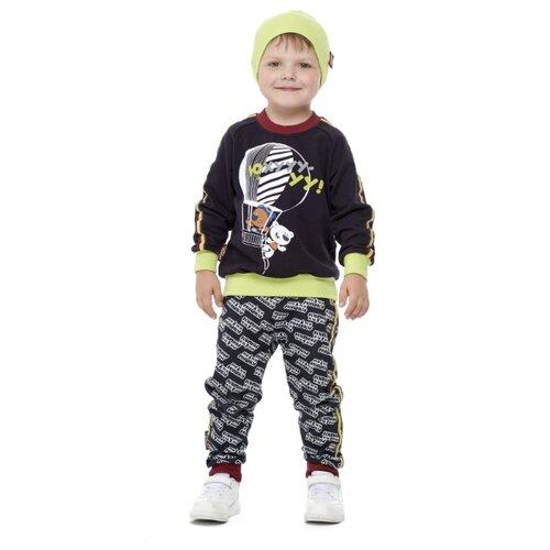 Купить Свитшот lucky child размер 32 (128-134), серый, Толстовки