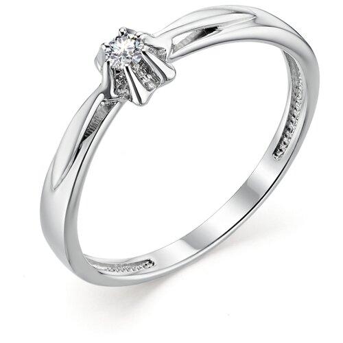 АЛЬКОР Кольцо с 1 бриллиантом из белого золота 12797-200, размер 15.5 алькор кольцо с 1 бриллиантом из белого золота 12869 200 размер 17 5