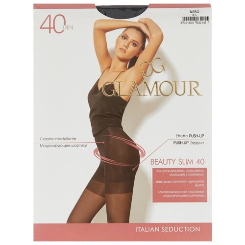 Колготки Glamour Beauty Slim 40 den, размер 4-L, nero (черный) колготки glamour thin body 2 40 den лёгкий загар