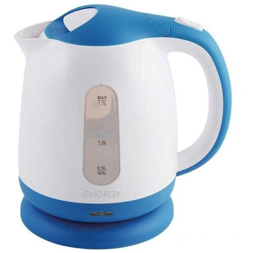 Фото - Чайник Energy E-293, белый/голубой чайник energy e 285 белый синий