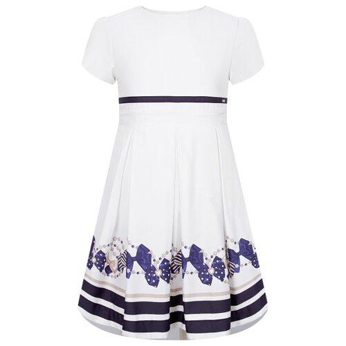 Купить Платье Mayoral размер 122, белый/синий, Платья и сарафаны