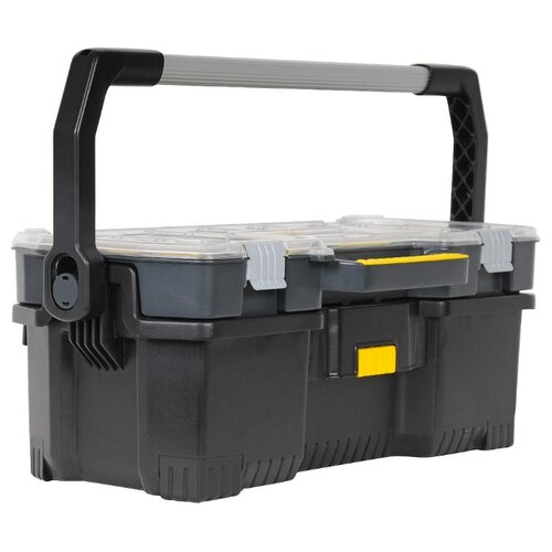 Ящик с органайзером STANLEY STST1-70317 55.6x32x24.9 см 19'' черный ящик с органайзером stanley jumbo 1 92 906 27 6x48 6x23 2 см черный желтый