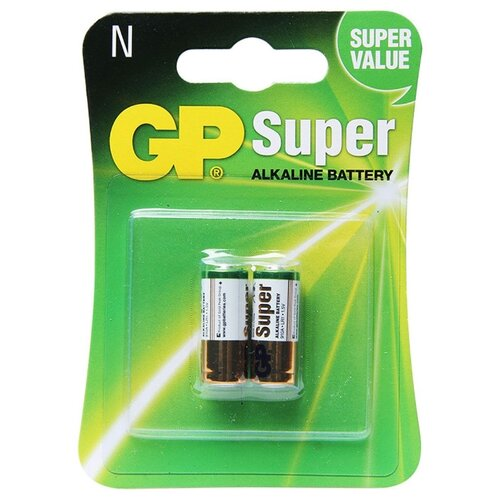 Фото - Батарейка GP Super Alkaline N (LR1/910A) 2 шт блистер батарейки gp super alkaline lr03 30 шт gp 24a b30