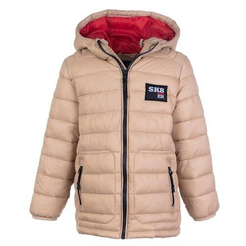 Куртка playToday 193050 размер 128, бежевый/темно-синий/красный куртка playtoday 393022 размер 128 темно синий