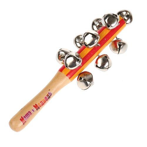 Купить Играем вместе маракас Маша и Медведь HLJ180108-5 красный/оранжевый/коричневый, Детские музыкальные инструменты