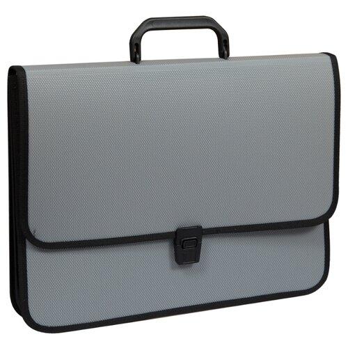 Купить OfficeSpace Папка-портфель 2 отделения A4+, на замке, пластик серый, Файлы и папки