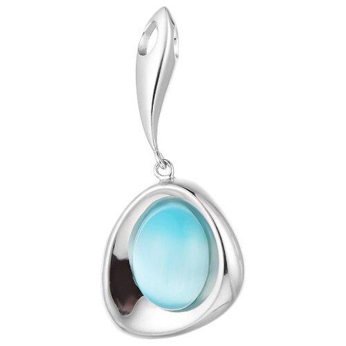 JV Подвеска со стеклом из серебра SP0398-US-002-WG jv кольцо с ювелирным стеклом из серебра b3198 us 011 wg размер 17 5