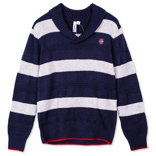 Купить Пуловер playToday размер 116, темно-синий/светло-серый, Свитеры и кардиганы