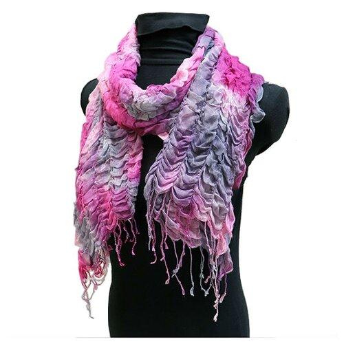 Шарф Crystel Eden 1128 100% шерсть розовый/фиолетовый