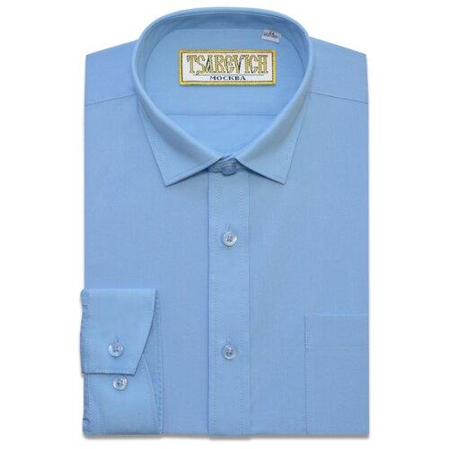 Рубашка Tsarevich размер 34/152-158, голубой