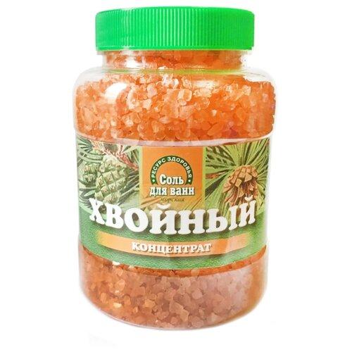 Ресурс Здоровья Соль для ванн морская Хвойный концентрат, 600 г