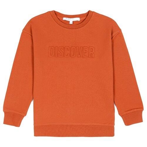 Свитшот MODIS размер 158, оранжевый jackets modis m182s00041 down coat jacket for female for woman tmallfs