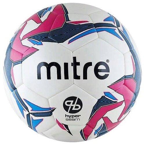 Футбольный мяч mitre Pro Futsal Hyperseam белый/голубой/розовый 4