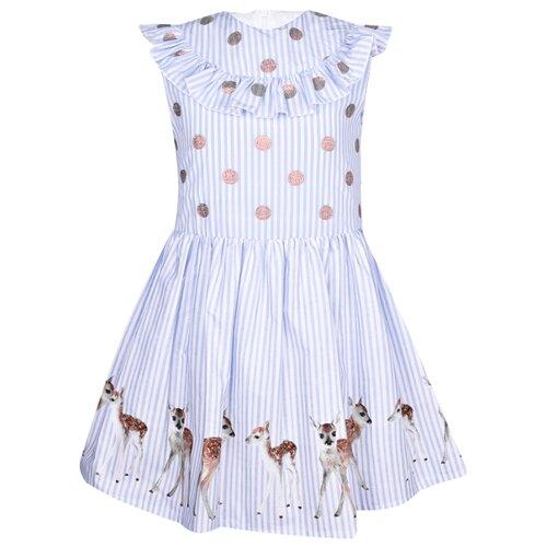 Платье Anne Kurris размер 116, полоска/белый/голубой