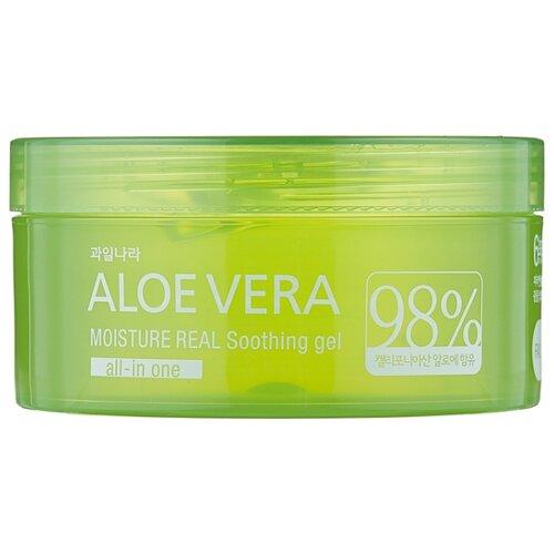 Гель для тела Welcos Aloe Vera Moisture Real Soothing Gel, 300 мл гель для тела farmstay универсальный смягчающий с экстрактом алоэ aloe vera moisture soothing gel 300 мл