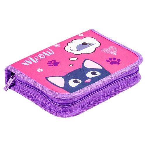 Купить Berlingo Пенал Meow (PK05840) розовый/фиолетовый, Пеналы