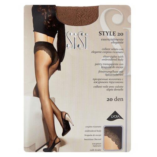 Колготки Sisi Style 20 den, размер 5-MAXI XL, daino (коричневый) колготки sisi activity 70 den размер 5 maxi xl daino коричневый