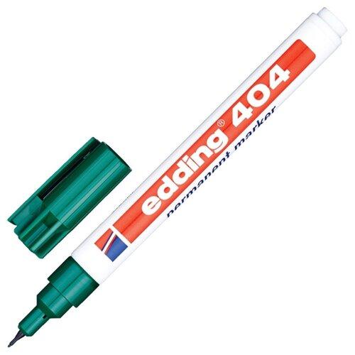 Фото - Маркер перманентный EDDING E-404/4, зеленый, 0,75мм круглый наконечник маркер перманентный edding зеленый 3 4 мм круглый наконечник