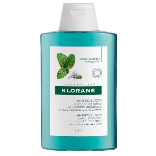 Klorane шампунь Anti-Pollution detox with Aquatic Mint 200 мл где купить шампунь klorane