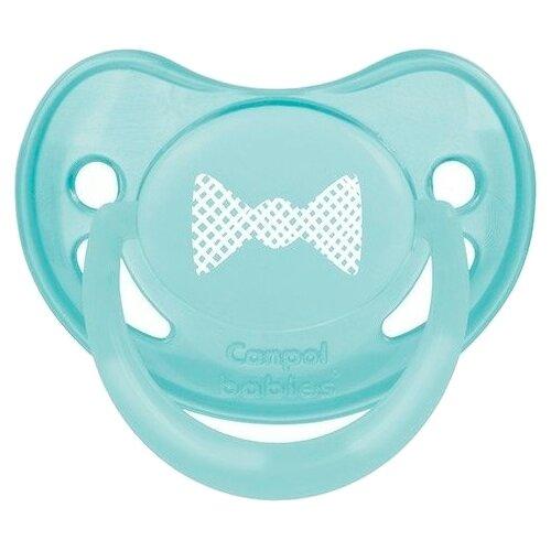 Купить Пустышка силиконовая анатомическая Canpol Babies Pastelove 0-6 м (1 шт) мятный, Пустышки и аксессуары