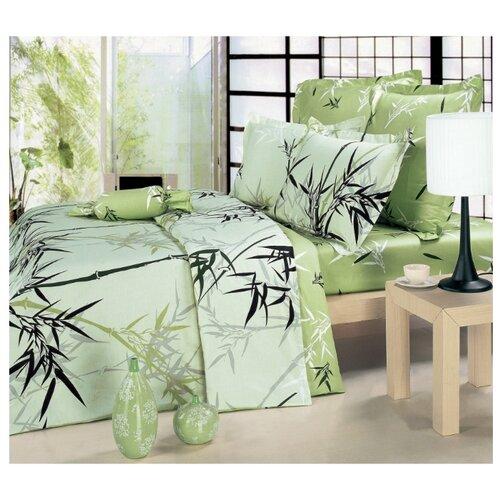 Постельное белье 2-спальное СайлиД B-53, сатин зеленый постельное белье сайлид а97 1 двуспальное