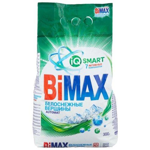 Стиральный порошок Bimax Белоснежные вершины Compact (автомат) 3 кг пластиковый пакет стиральный порошок sandokkaebi se plus 3 3 кг пластиковый пакет