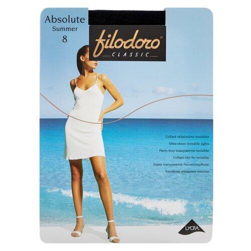 колготки женские filodoro classic cotton wool 100 цвет nero черный c113560cl размер 4 46 48 Колготки Filodoro Classic Absolute Summer 8 den, размер 4-L, nero (черный)