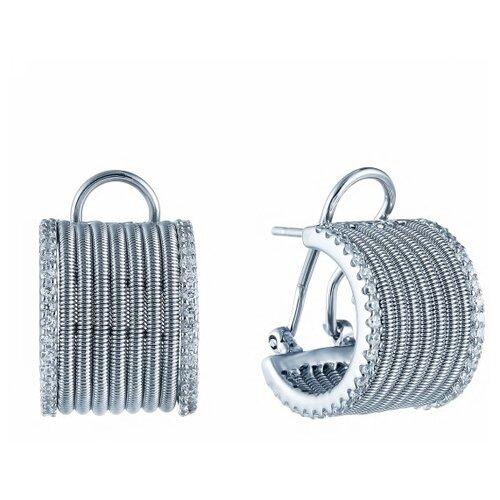 Фото - JV Серебряные серьги с кубическим цирконием DM2148E-SR-001-WG jv серебряные серьги с кубическим цирконием ss b0858ec sr 001 wg