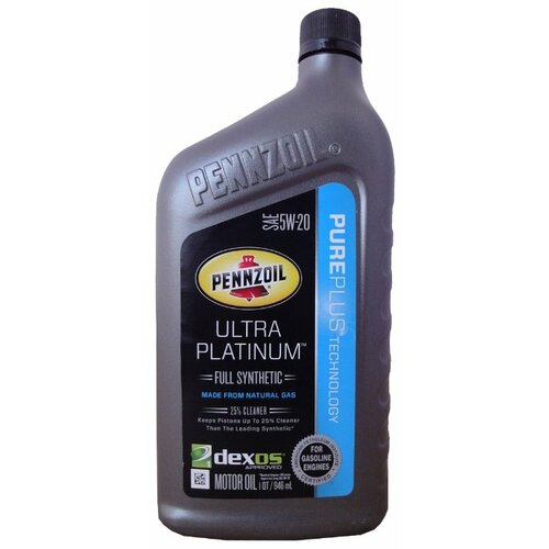 Фото - Моторное масло Pennzoil Ultra Platinum SAE 5W-20 0.946 л моторное масло pennzoil gold synthetic blend sae 5w 30 0 946 л