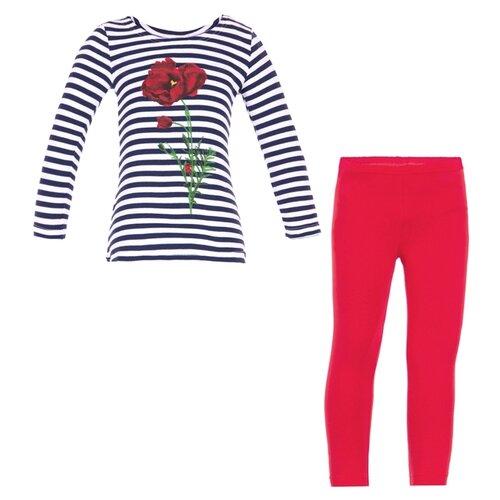 Купить Комплект одежды Апрель размер 110-56, красный/синий полоска, Комплекты и форма