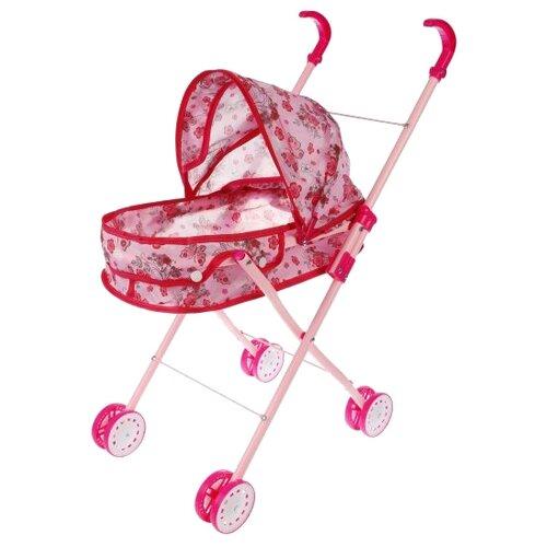 Коляска-люлька Наша игрушка Вальс M7517-5 розовый игрушка наша игрушка бульдозер 6655 5