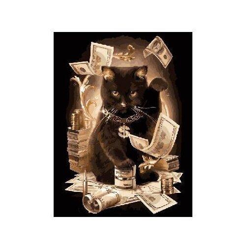 """Paintboy Картина по номерам """"Денежный кот"""" 40х50 см (GX8911)"""