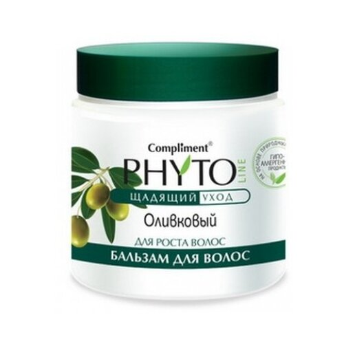 Compliment бальзам для волос Phyto Line Оливковый для роста волос, 500 мл phyto для волос витамины купить