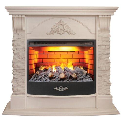 Электрический камин RealFlame Athena GR STD/EUG/24/25,5 + Firestar 25,5 3D белый электрический камин realflame kellie 25 5 26 firestar 25 5 3d белый камень