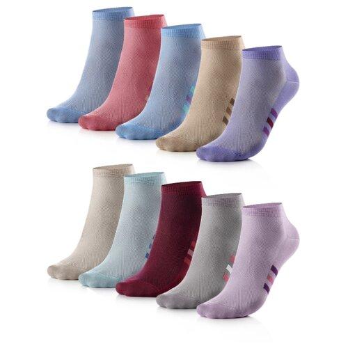 Носки My Rules цветные, 10 пар, размер 36-40, разноцветные носки my rules средней длины размер 36 40 черный