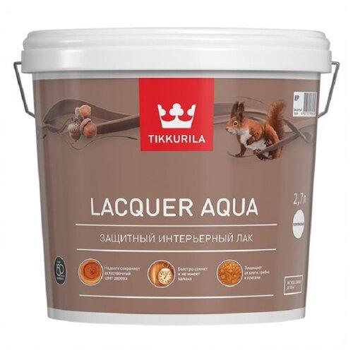 цена на Лак Tikkurila Lacquer Aqua полуглянцевый водорастворимый бесцветный 2.7 л