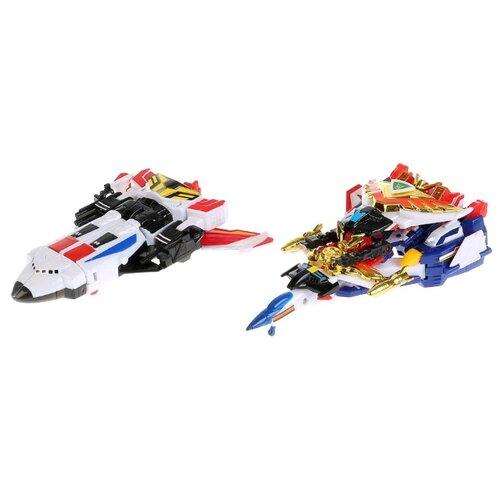 Купить Трансформер Play Smart Ураган + Гром (серия Робот) 8060 белый/синий/черный/красный, Роботы и трансформеры